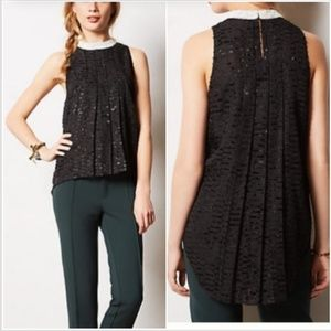 Anthropologie Sachin Babi jeweled collar top NYE